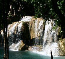 Erawan Waterfall in Thailand 2 by Neil Grainger