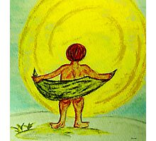 Toweling at the Moon Photographic Print