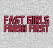 Fast girls finish first by bakery