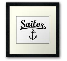 Sailor Anchor Black Framed Print