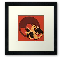 Charizard (Pokemon) - Sunset Shores Framed Print