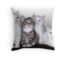Three Of A Kind, Plus One Throw Pillow