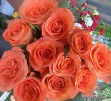 GROUP OF DECORATED RED ROSES by sibananda