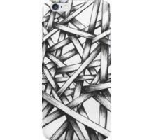 Hand Drawn Sketch - Interlocking Lines - Thatchwerk V1 iPhone Case/Skin