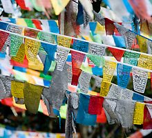 Tibetan prayer flags by clayjars