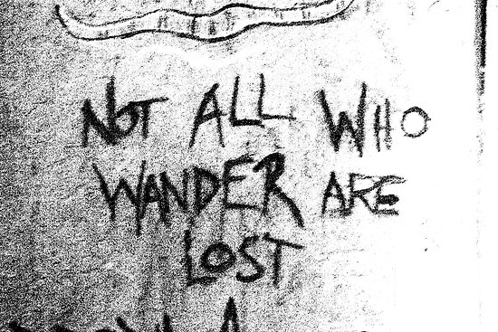 Those who wander B&W by A boy called Star