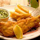 Fish, Chips and Mushy Peas by Elana Bailey