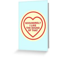 Geeky Love Hearts - Scoundrel Greeting Card