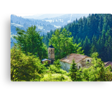 The Village Church - Impressions of Mountains and Forests Canvas Print