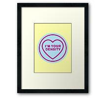Geeky Love Hearts - Density Framed Print