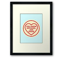 Geeky Love Hearts - Nothing Framed Print