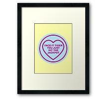 Geeky Love Hearts - Tiger Framed Print