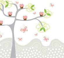 Cupcakes Tree by fatfatin