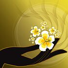 Buddha's Hand and White Hibiscus by fatfatin