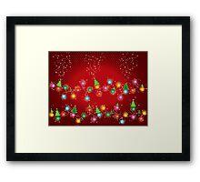 Sparkling Mini X'mas Tree Lights Framed Print