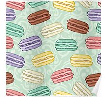 Pastel colored macarons Poster