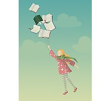 Girl with books Photographic Print