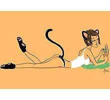 women's cat nature * meow* Photographic Print