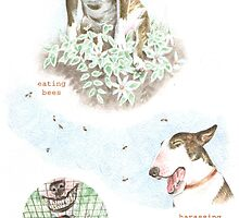 G IS FOR GARDEN From A Bull Terrier's Alphabet by threebrownhares