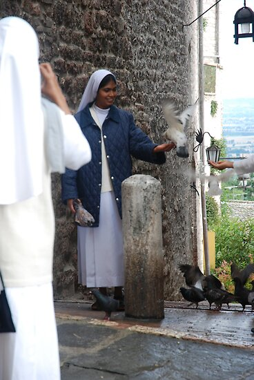 Nun with pigeon by julie08