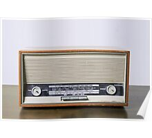 retro Telefonken radio receiver on white background Poster