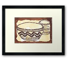 African clay pots - Ethnic series Framed Print