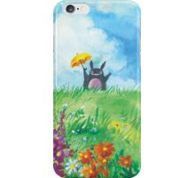 the cat in the field iPhone Case/Skin