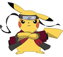Pikachu Naruto Photographic Print