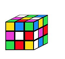 rubik - the cube Photographic Print