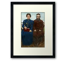 Americana - The yearly family portrait Framed Print