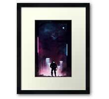Occupied City Center - 6 Hours After Drop Framed Print