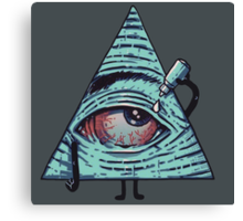 Illuminati gets Baked Canvas Print