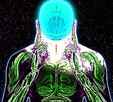 MIND #1 - Expanded Consciousness Psychedelic Thinking Man Telepathic Character Design by capartwork