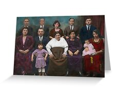 Americana - This is my family 1925 Greeting Card
