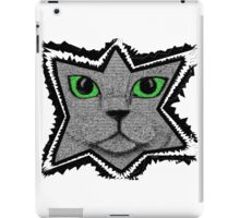 Pixel Cat Black and White iPad Case/Skin