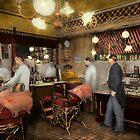 Barber - L.C. Wiseman Barbershop, NY 1895 by Mike  Savad