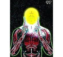 MIND #3 - Expanded Consciousness Psychedelic Thinking Man Telepathic Character Design Photographic Print
