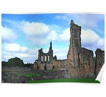 Byland Abbey -4 Poster