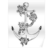 Anchor and Rose Poster