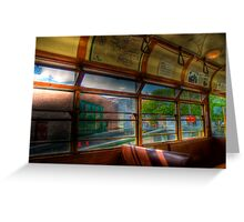 Old Strathcona Trolley Greeting Card