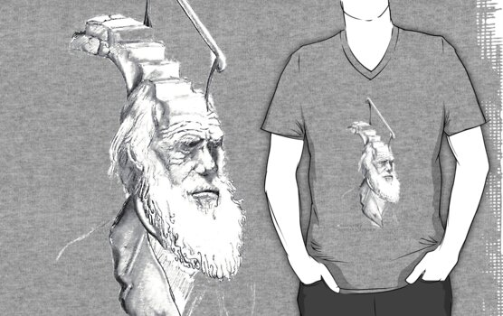 Darwin Took Steps -t-shirt by Glendon Mellow
