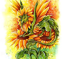 Sunflower Fairy Dragon by TrollWorks