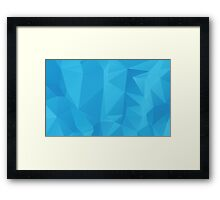 Abstract Blue Geometric Background 2 Framed Print