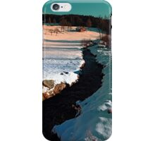 Black stream in winter wonderland | landscape photography iPhone Case/Skin