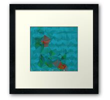Abstract Blue Geometric Background 3 Framed Print