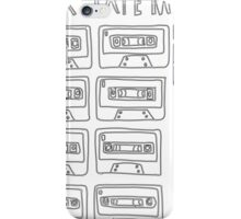 Mix Tape Black and White Design iPhone Case/Skin