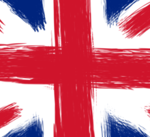 Abstract Union Jack Sticker