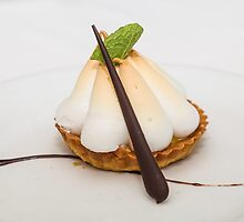 Meringue Tart with Mint Leaf by dbvirago