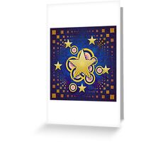 Colorful background with stars Greeting Card