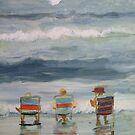 beach friends by Susan Brown